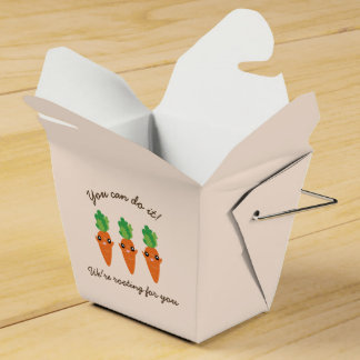We're Rooting For You Funny Encouraging Carrots Party Favor Box