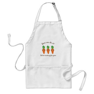 We're Rooting For You Funny Encouraging Carrots Standard Apron