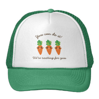 We're Rooting For You Funny Encouraging Carrots Trucker Hat