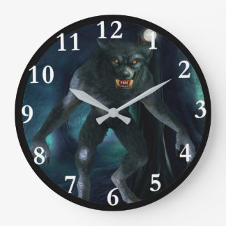 Werewolf Art Round Wall Clock