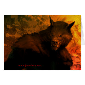 Werewolf bust Greeting Cards