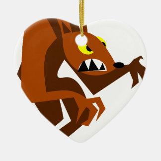 Werewolf Ceramic Ornament