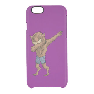 werewolf Dabbing Funny Halloween Dab Dance Clear iPhone 6/6S Case