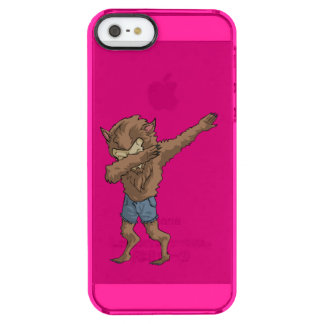 werewolf Dabbing Funny Halloween Dab Dance Clear iPhone SE/5/5s Case