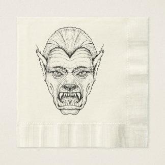 Werewolf Ecru Coined Luncheon Paper Napkins