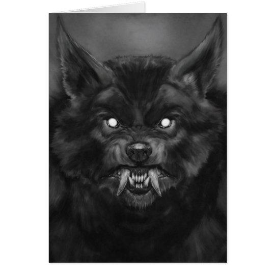 Werewolf face Card