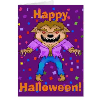Werewolf Halloween Greeting Card
