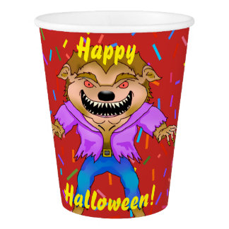 Werewolf Halloween Paper Cups