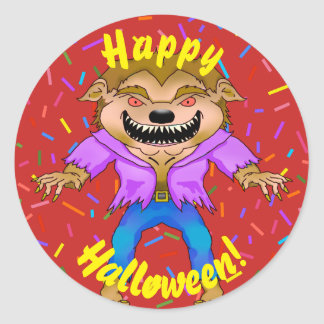 Werewolf Halloween Stickers