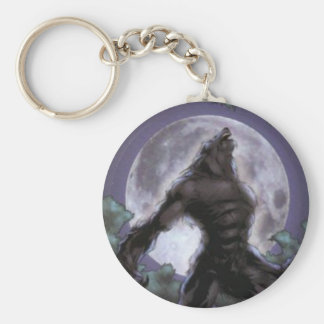 Werewolf Howling At The Moon Keychain