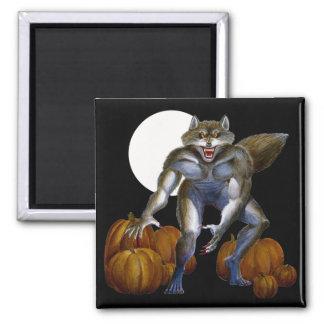 Werewolf in Pumpkin Patch Magnet