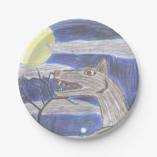Werewolf Kid Art Paper Plate