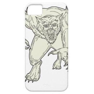 Werewolf Monster Running Mono Line Case For The iPhone 5