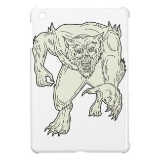 Werewolf Monster Running Mono Line iPad Mini Cases