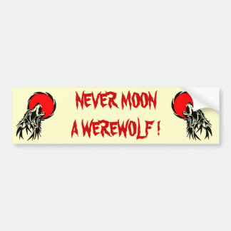 Werewolf Moon Bumper Sticker