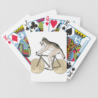 Werewolf Riding Bike With Full Moon Wheels Bicycle Playing Cards