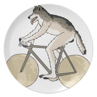 Werewolf Riding Bike With Full Moon Wheels Plate