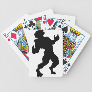 Werewolf Silhouette Bicycle Playing Cards