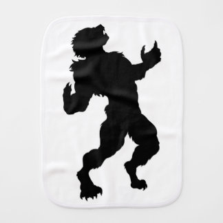 Werewolf Silhouette Burp Cloth