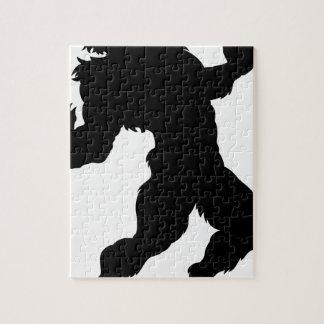 Werewolf Silhouette Jigsaw Puzzle