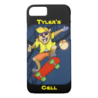 Werewolf Skateboarder Cell Phone Case