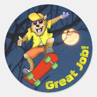 Werewolf Skateboarder Stickers