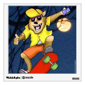 Werewolf Skateboarder Wall Decal