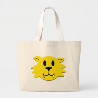 Werewolf Smiley Large Tote Bag