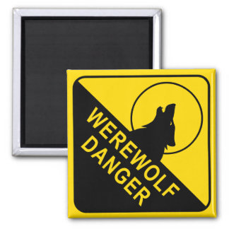 Werewolf Square Magnet