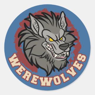 Werewolf team round sticker