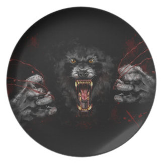 Werewolf Tearing Out Your Heart Dinner Plate