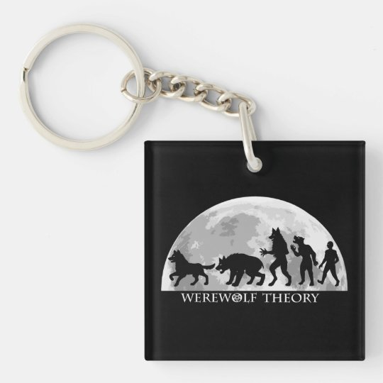 Werewolf Theory Square Keychain