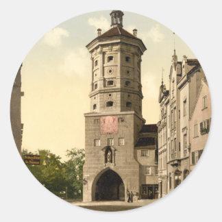 Wertachbrucker Tor, Augsburg, Bavaria, Germany Classic Round Sticker