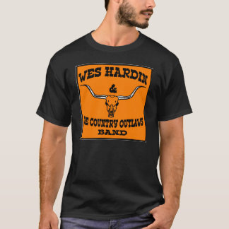 wes hardin country outlaw longhorn and guitars T-Shirt