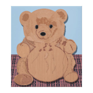 Wes T Bear Wrapped Canvas Stretched Canvas Print