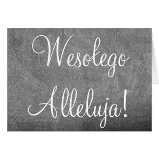 Wesołego Alleluja Polish Happy Easter Chalkboard Card