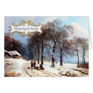 Wesolych Swiat. Polish Christmas Card