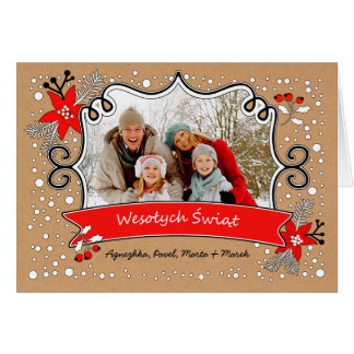 Wesołych Świąt. Polish Christmas Photo Card
