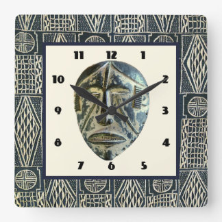 West Africa Square Wall Clock
