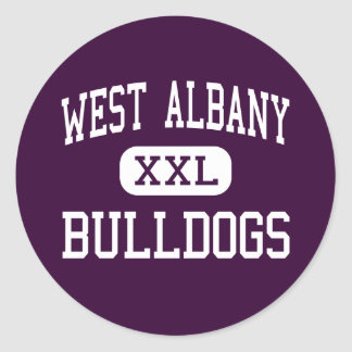 West Albany - Bulldogs - High - Albany Oregon Classic Round Sticker