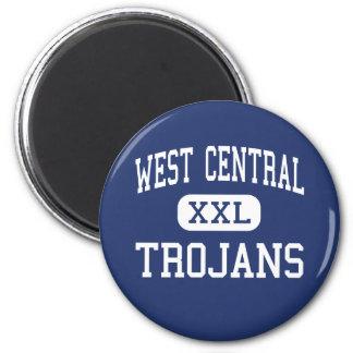 West Central - Trojans - High - Hartford Refrigerator Magnet