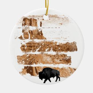 West Ceramic Ornament