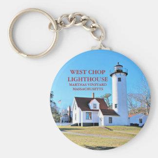 West Chop Lighthouse, Marthas Vineyard MA Keychain