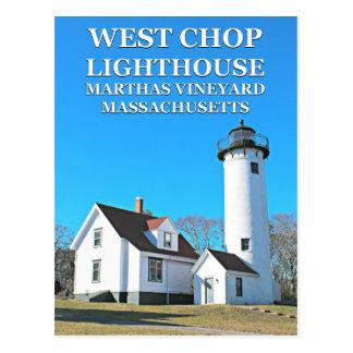 West Chop Lighthouse, Marthas Vineyard MA Postcard