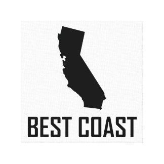West Coast Best California Black Canvas Print
