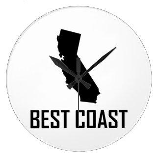 West Coast Best California Black Large Clock
