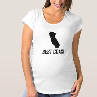 West Coast Best California Black Maternity T-Shirt