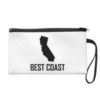 West Coast Best California Black Wristlet