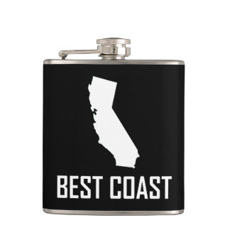 West Coast Best California White Hip Flask