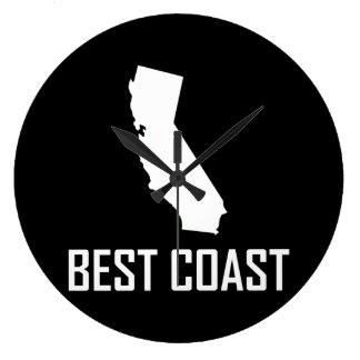 West Coast Best California White Large Clock